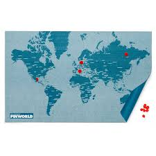 World Map Pins by Pin World By Palomar Connox Shop