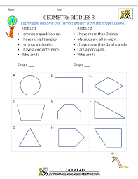fourth grade geometry worksheets simple fractions worksheets