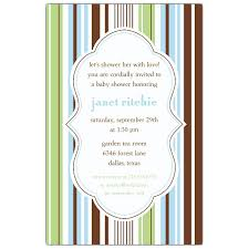 stripes blue green baby shower invitations paperstyle