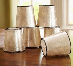 Mini Chandelier Lamp Shades Mini Mica Drum Chandelier Shade Set Of 3 Pottery Barn