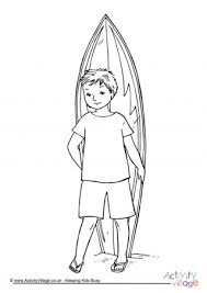Summer Colouring Pages Surfboard Coloring Page