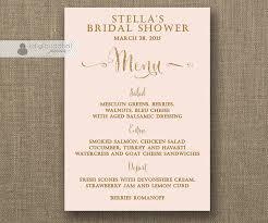 Bridal Shower Menu Template blush pink gold menu glitter bridal shower bohemian wedding