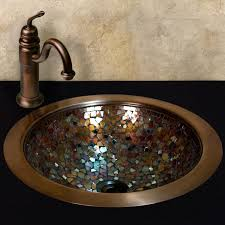 warren glass mosaic copper sink drain finish in oil rubbed bronze