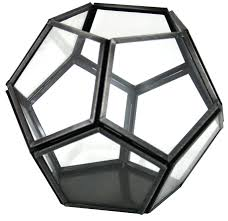 metal tea light holders and glass dodecahedron tea light holder