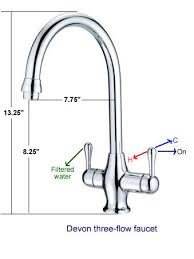 kitchen faucet fixtures three flow kitchen faucet with doulton filtered water