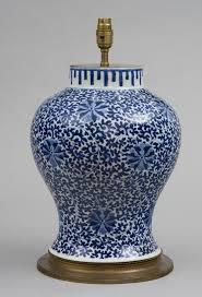 blue u0026 white porcelain vase lamp circa 1880