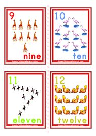 free printable number flashcards 1 20 counting numbers flashcards animals aussie childcare network