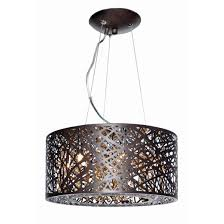 glamorous drum pendant lighting modern style height adjustable 9