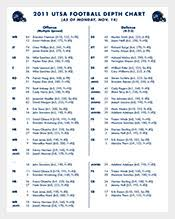 Football Depth Chart Template Excel Chart Template 341 Free Sle Exle Format
