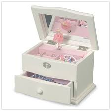 ring pop boxes ballerina jewelry box with an ivory finish