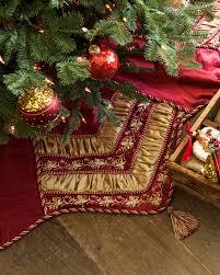 Poinsettia Christmas Tree Skirt Noel Burgundy And Gold Tree Skirt Balsam Hill Australia