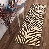 Cheetah Runner Rug Amazon Com Brown Checkered Cheetah Rug Animal Long 2x8 Runner Rug