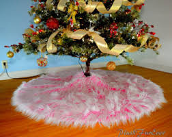 pink tree skirt etsy
