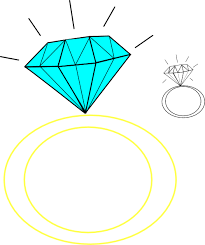 Wedding Ring Clipart by Blue Diamond Ring Clipart Clipartfox U2013 Gclipart Com