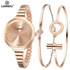 womens diamond bracelet watches images Liandu fashion watch women rosegold diamond bracelet watch luxury jpg