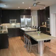 Dark Wood Floor Kitchen by Dark Cherry Cabinets Wood Flooring Kitchen Tile Backsplashes
