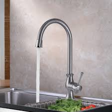single handle pull out kitchen faucet gooseneck 304 stainless steel single handle pullout kitchen faucet
