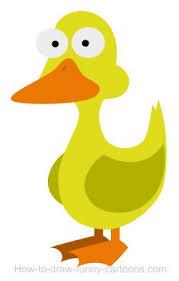 drawing duck cartoon