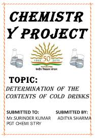 chemistry project on cold drinks