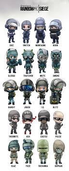 siege mini artstation rainbow six siege operator chibis arman akopian