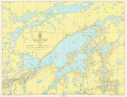 Lake Maps Mn Print Of Minnesota Ontario Border Lakes Saganaga Lake Poster On
