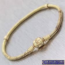 pandora link bracelet images Authentic pandora solid 14k yellow gold herringbone link chain JPG