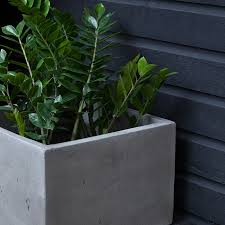 planters awesome concrete square planter stone planters outdoor