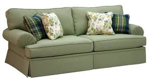 westport 2 piece sleeper sofa set in olive gingham check fabric by