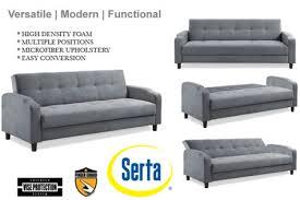 modern futon sofa bed microfiber futon sofa bed grey convertible futon sofa bed sleeper