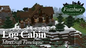 minecraft let u0027s build timelapse log cabin world download youtube