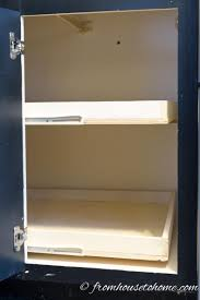 how to build pull out shelves for a blind corner cabinet part 1 the two shelves pulled out
