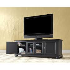Computer Desk Tv Stand by Alexandria 60 Inch Low Profile Tv Stand In Black Finish Crosley