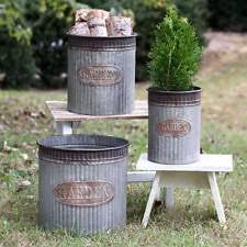 unbranded metal round garden baskets pots u0026 window boxes ebay