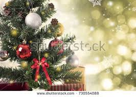 tree background decorations snow stock photo