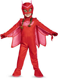 Toddler Girls Halloween Costume Licensed Pj Masks Superhero Owlette Deluxe Toddler Halloween