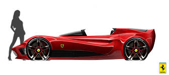 ferrari sketch side view middlecott design