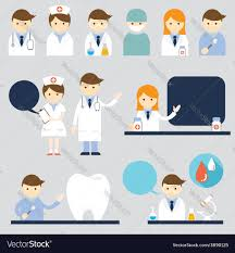Doctor And Nurse Doctor And Nurse Symbol Icons Set Royalty Free Vector Image