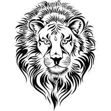 lion head tattoo clip art animals clip art downloadclipart org