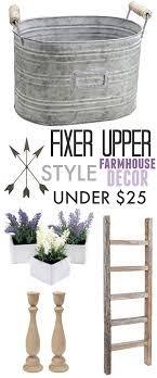 Fixer Upper Style Farmhouse Decor Ideas Under $25