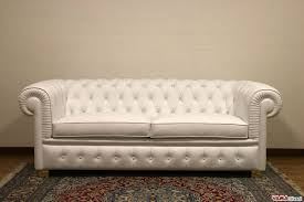White Leather Chesterfield Sofa by Chesterfield 2 Maxi Seater Sofa Two Large Cushions