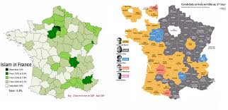 United States Of Islam Map by Islam Compared To Voting In France 2017 Vivid Maps