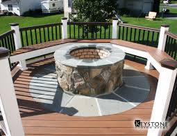 Custom Firepit Custom Pit Integrated Into A Timbertech Deck Built By