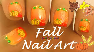 ღfall halloween u0026 thanksgiving nail art designs gradient nails
