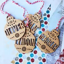 Personalised Christmas Ornaments - christmas themed gifts for babies and kids gift grapevine