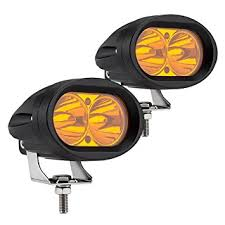 Led Fog Light Amazon Com Weisiji Led Work Light 2pcs Amber Color Motorcycle Led