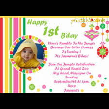 1st birthday invitation card maker 44957 linegardmed com