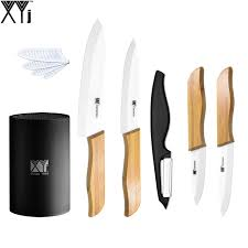 professional kitchen knives set professional kitchen knives xyj brand bamboo handle 3 4 5 6