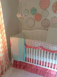 Complete Nursery Furniture Sets by Coral Mint And Gold Baby Crib Bedding A Personal Favorite