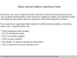 certified internal auditor cover letter