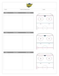 Plan Template Coach U0027s Manual And Practice Plan Templates U2013 Whitemud West Hockey